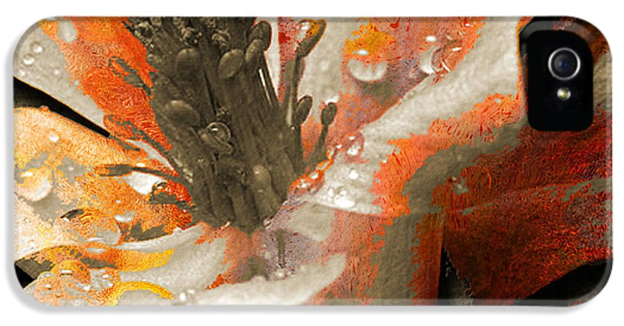 IPhone 5 Case featuring the mixed media Seeds by Yanni Theodorou