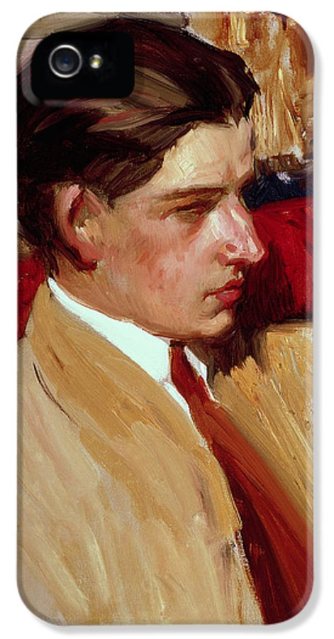 Male IPhone 5 Case featuring the painting Self Portrait In Profile by Joaquin Sorolla y Bastida