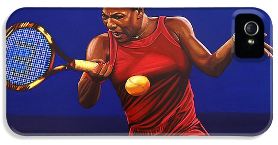 Serena Williams IPhone 5 Case featuring the painting Serena Williams Painting by Paul Meijering