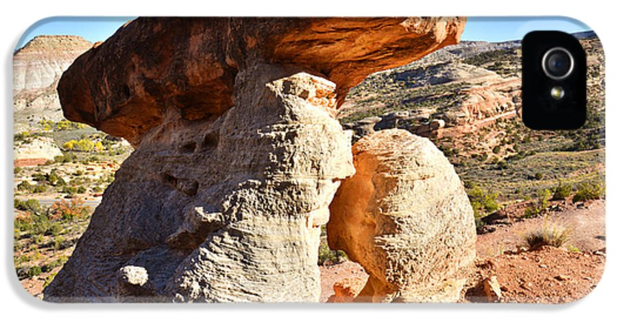 Serpent Trail IPhone 5 Case featuring the photograph Serpent Trail Caprock by Ray Mathis