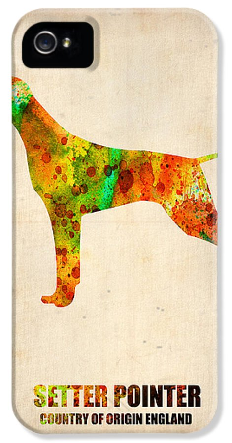 Setter Pointer IPhone 5 / 5s Case featuring the painting Setter Pointer Poster by Naxart Studio