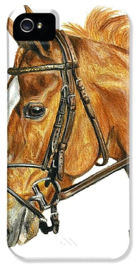 Shackleford IPhone 5 Case featuring the painting Shackleford by Pat DeLong