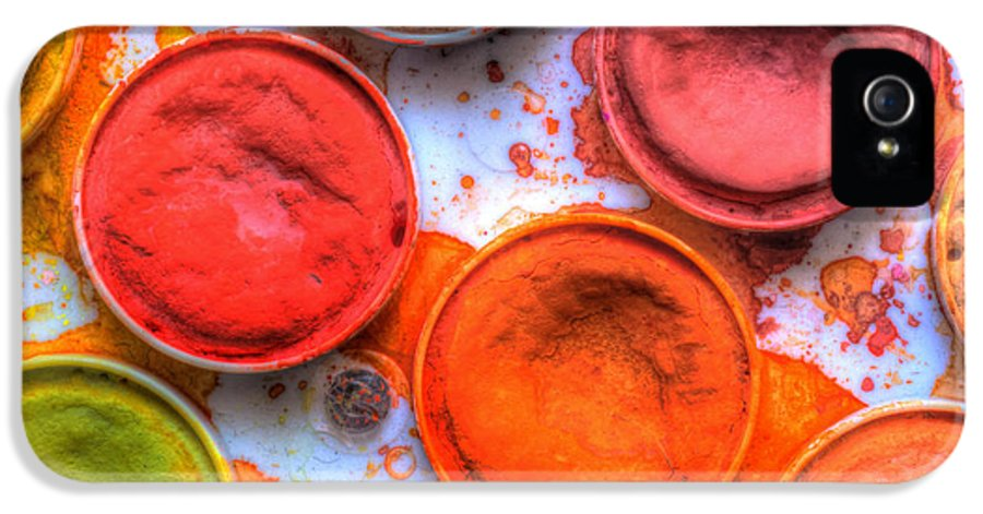 Paint IPhone 5 Case featuring the photograph Shades Of Orange Watercolor by Heidi Smith