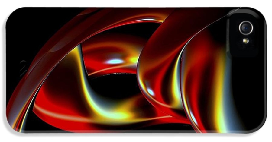 Abstract IPhone 5 Case featuring the digital art Shades Of Red by Greg Moores