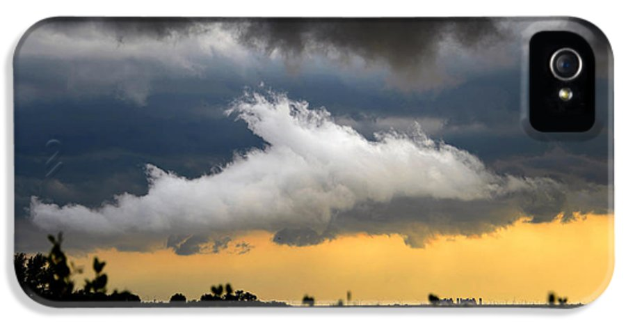 Shark Cloud IPhone 5 Case featuring the photograph Shark Cloud by David Lee Thompson
