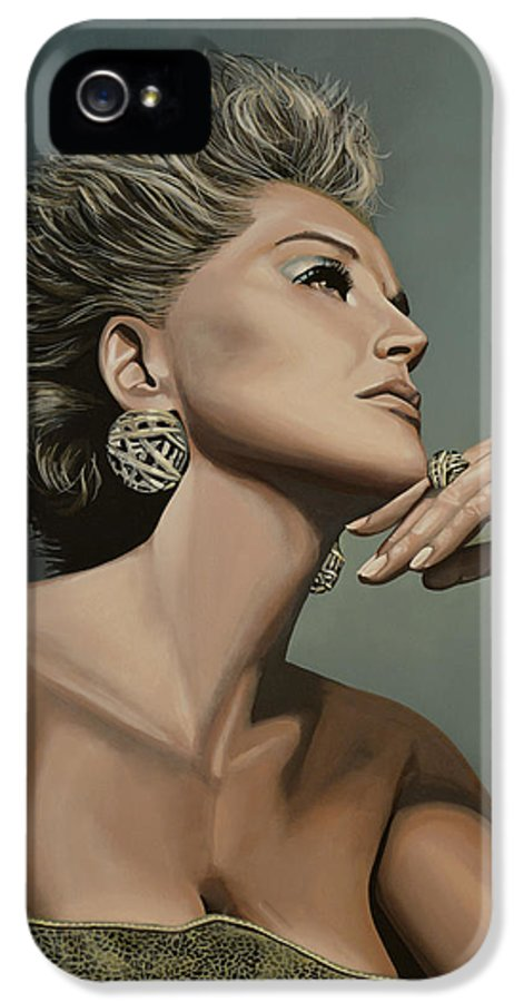 Sharon Stone IPhone 5 Case featuring the painting Sharon Stone by Paul Meijering