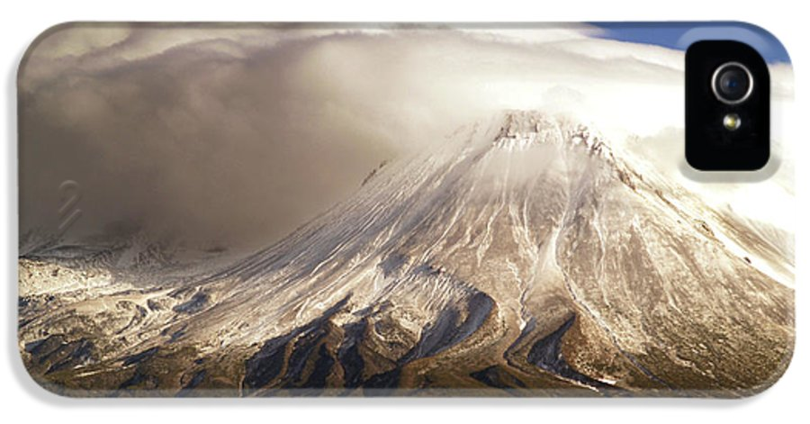 Mt Shasta IPhone 5 Case featuring the photograph Shasta Storm by Bill Gallagher