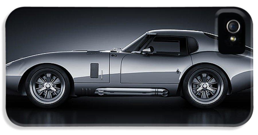 Transportation IPhone 5 Case featuring the digital art Shelby Daytona - Bullet by Marc Orphanos