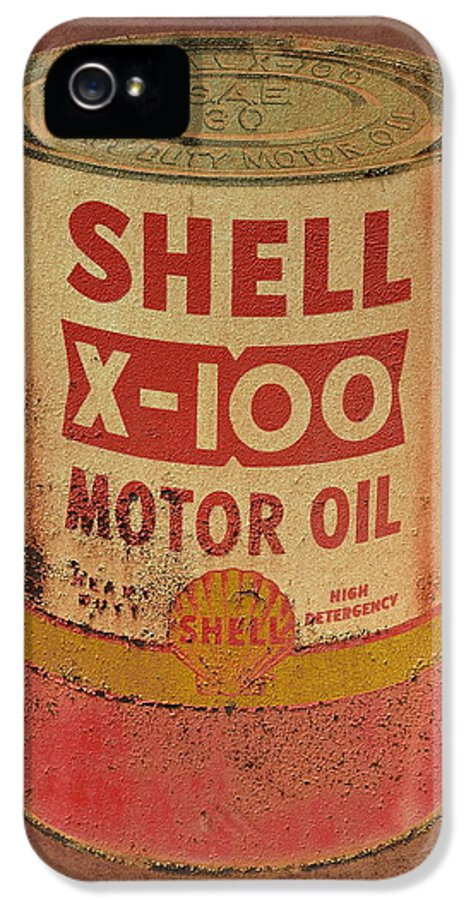 Antique IPhone 5 Case featuring the photograph Shell Motor Oil by Michelle Calkins