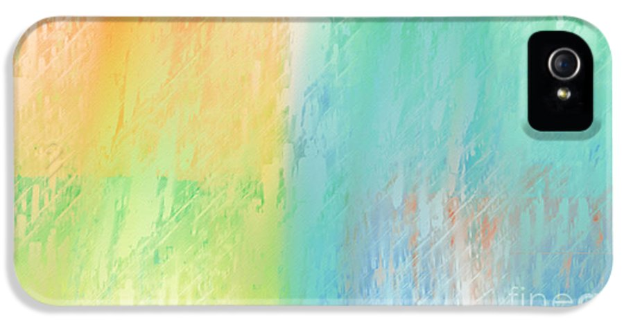 Abstract IPhone 5 Case featuring the digital art Sherbet Abstract by Andee Design