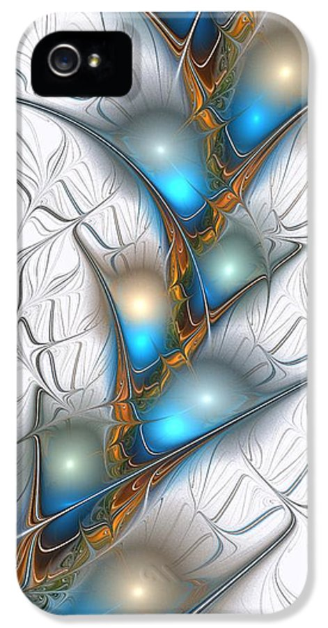 Shimmering IPhone 5 Case featuring the digital art Shimmering Lights by Anastasiya Malakhova