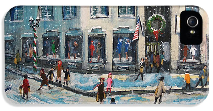 Grover Cronin IPhone 5 Case featuring the painting Shopping At Grover Cronin by Rita Brown