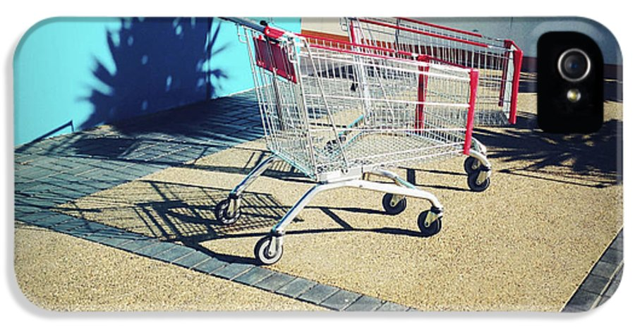 Cart IPhone 5 Case featuring the photograph Shopping Trolleys by Les Cunliffe