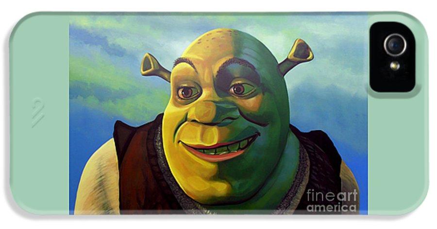 Shrek IPhone 5 Case featuring the painting Shrek by Paul Meijering