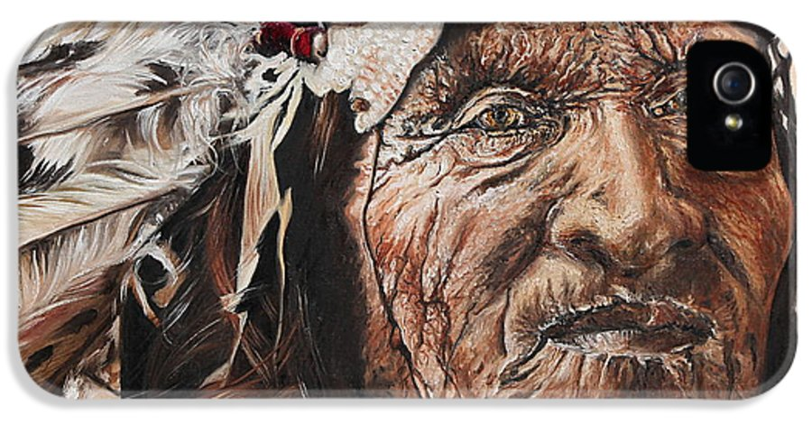 Annalise Kucan IPhone 5 Case featuring the painting Signs Of His Times by Annalise Kucan