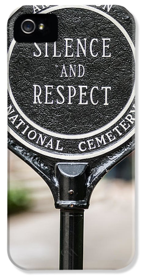 Sign IPhone 5 Case featuring the photograph Silence And Respect by Steve Gadomski