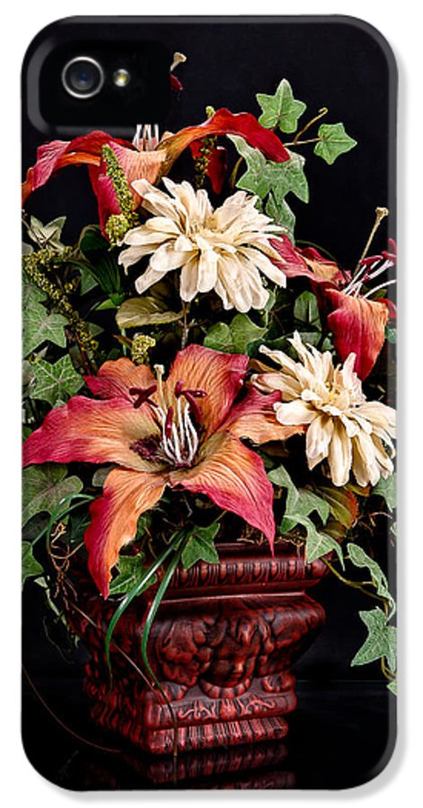 Jeff IPhone 5 Case featuring the photograph Silk Flowers by Jeff Burton