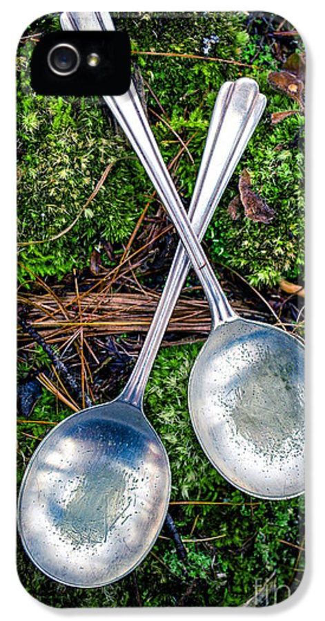Moss IPhone 5 Case featuring the photograph Silver Spoons by Edward Fielding