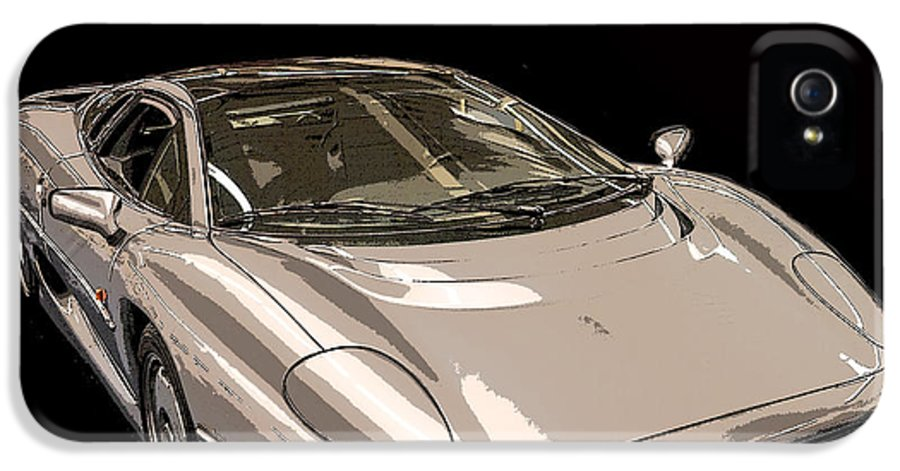 Poster IPhone 5 Case featuring the photograph Silver Sports Car by Edward Fielding