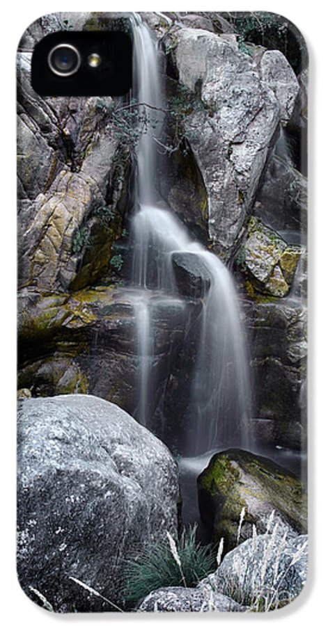 River IPhone 5 Case featuring the photograph Silver Waterfall by Carlos Caetano
