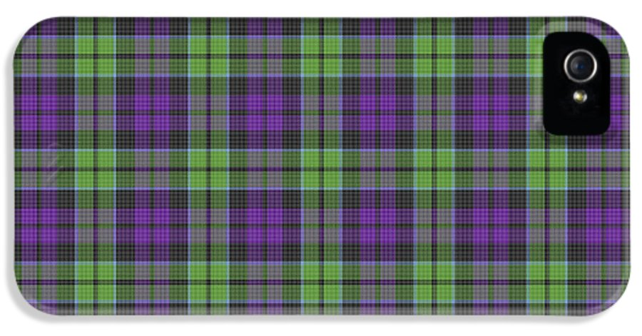 Scott IPhone 5 Case featuring the digital art Sir Walter Scott Purple And Green by Gregory Scott