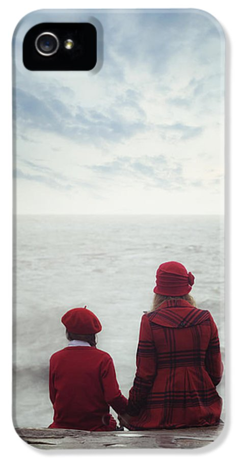 Girl IPhone 5 Case featuring the photograph Sitting At The Sea by Joana Kruse