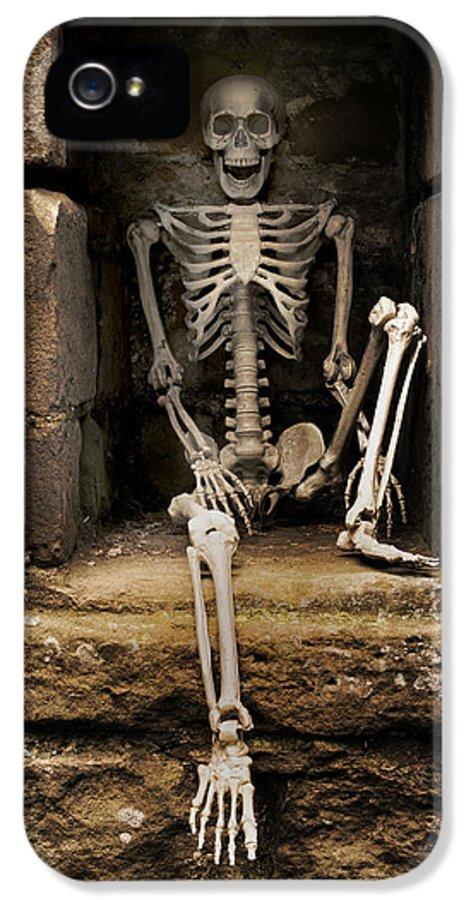 Skeleton IPhone 5 Case featuring the photograph Skeleton by Amanda Elwell