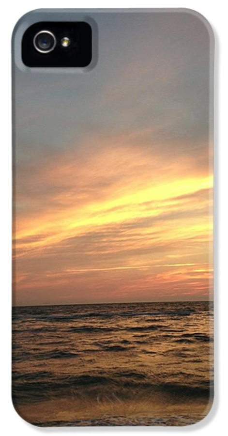 Sunset IPhone 5 Case featuring the photograph Slanted Setting by K Simmons Luna