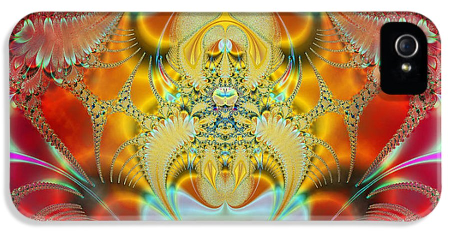 Abstract IPhone 5 Case featuring the digital art Sleeping Genie by Ian Mitchell
