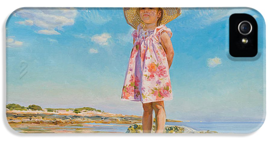 Child IPhone 5 Case featuring the painting Small Island by Victoria Kharchenko