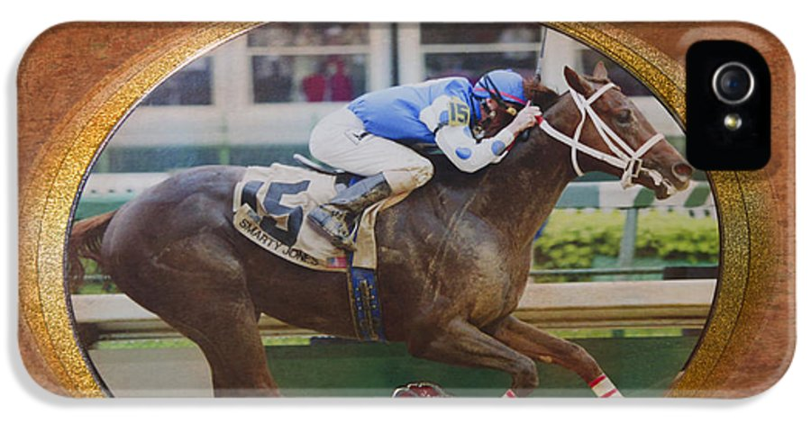 Emblem IPhone 5 Case featuring the photograph Smarty Jones by Betty LaRue