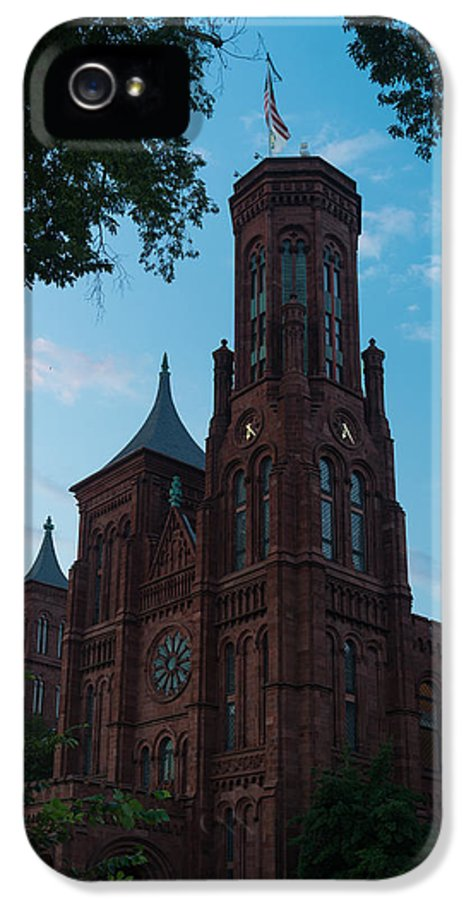 Smithsonian IPhone 5 Case featuring the photograph Smithsonian Castle Dawn by Steve Gadomski