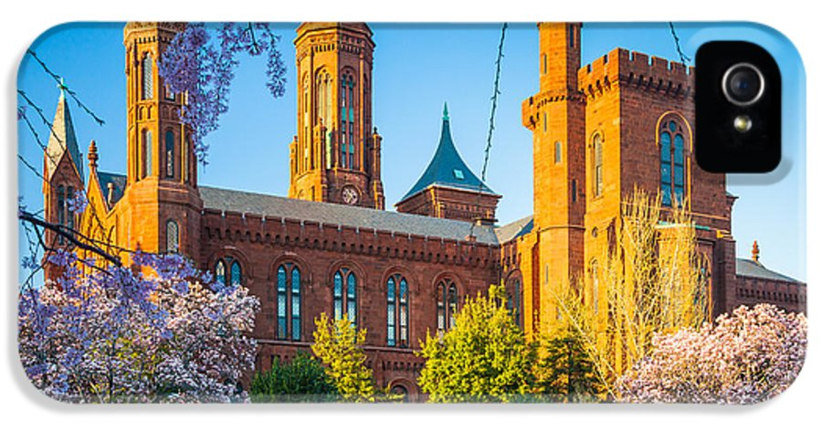 America IPhone 5 Case featuring the photograph Smithsonian Castle by Inge Johnsson
