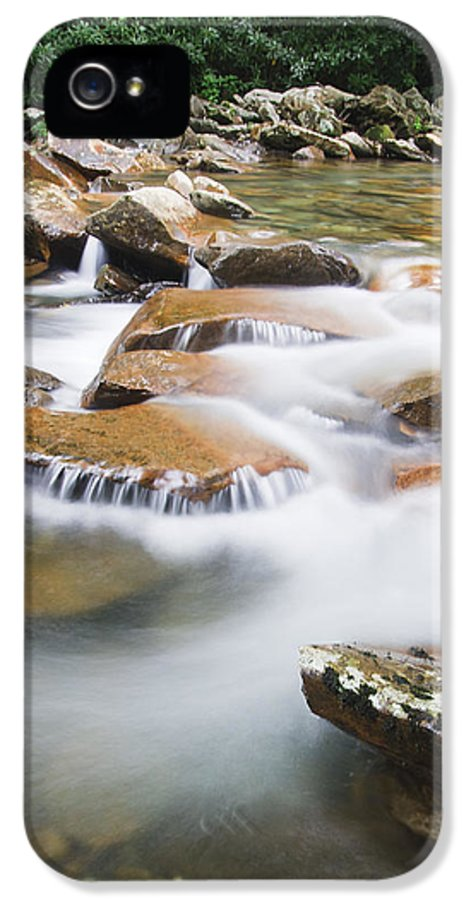 3scape Photos IPhone 5 Case featuring the photograph Smokey Mountain Creek by Adam Romanowicz