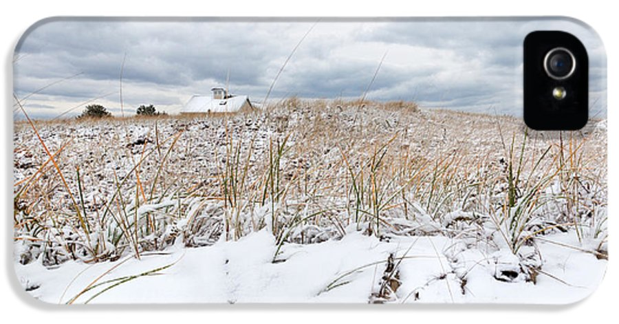 Smugglers Beach Snow Cape Cod IPhone 5 Case featuring the photograph Smuggler's Beach Snow Cape Cod by Michelle Wiarda