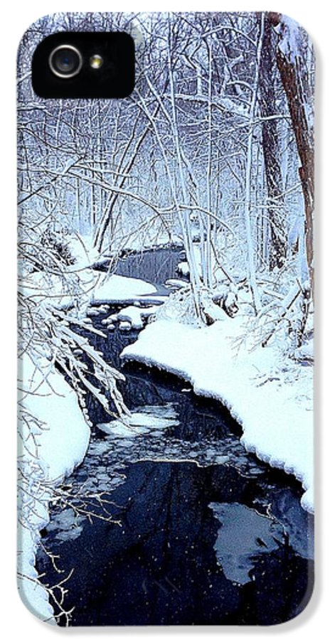 Snow IPhone 5 Case featuring the photograph Snowy Day by Jeff Klingler