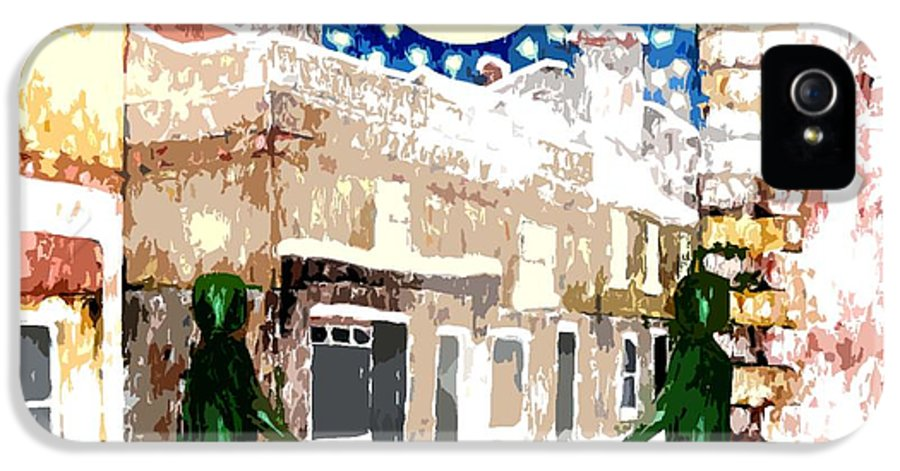 Landscapes IPhone 5 Case featuring the painting Snowy Night by Patrick J Murphy