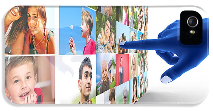 Social IPhone 5 Case featuring the digital art Social Media Network by Michal Bednarek