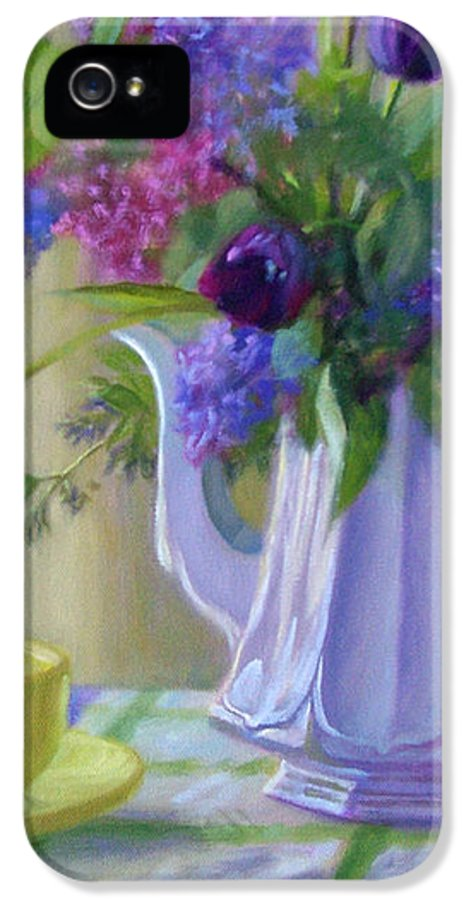 Bonnie Mason IPhone 5 Case featuring the painting Soft Light by Bonnie Mason