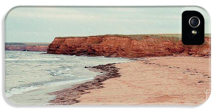 Rain IPhone 5 Case featuring the photograph Soft Rain On The Beach by Edward Fielding