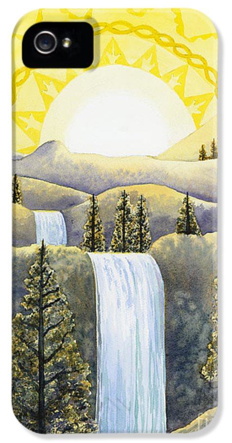 Power IPhone 5 Case featuring the painting Solar Plexus Chakra by Catherine G McElroy