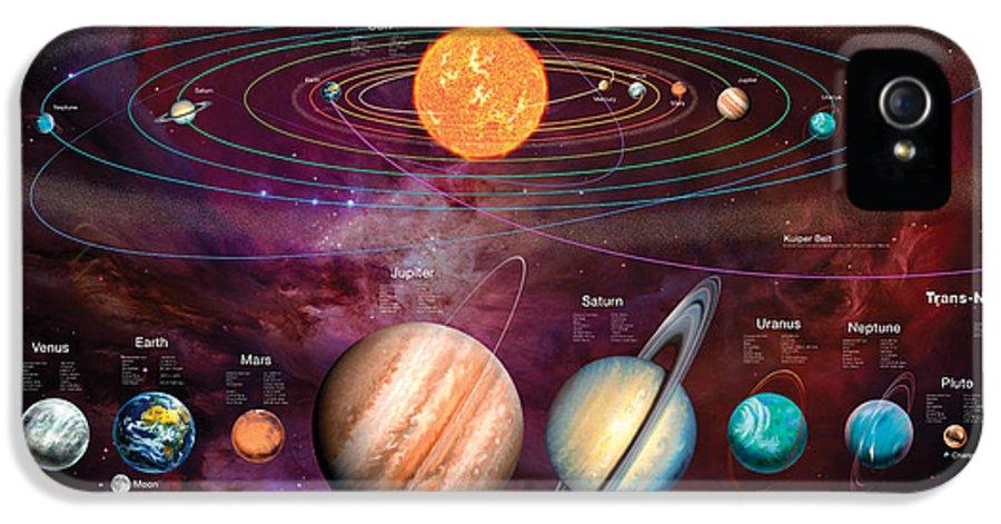 Gary Walton IPhone 5 Case featuring the digital art Solar System 1 by Garry Walton