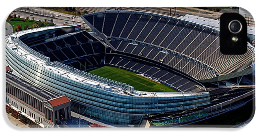 Soldier Field IPhone 5 Case featuring the photograph Soldier Field Chicago Sports 06 by Thomas Woolworth