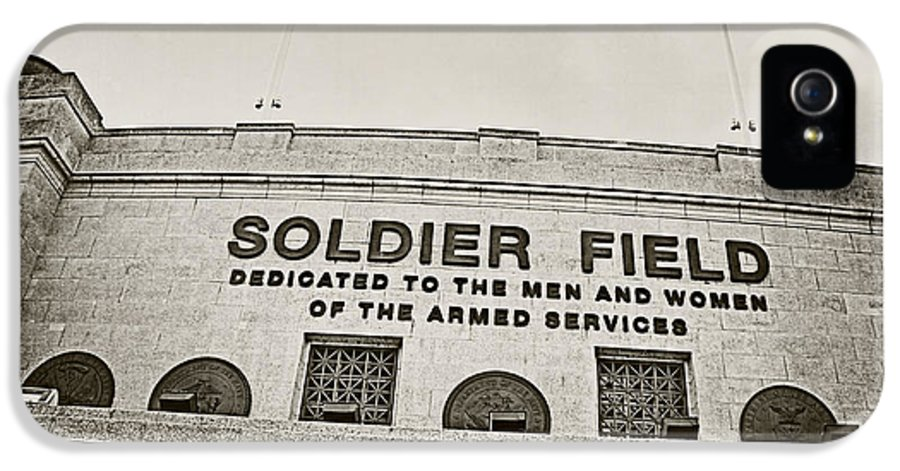 Soldier Field IPhone 5 Case featuring the photograph Soldier Field by Jessie Gould