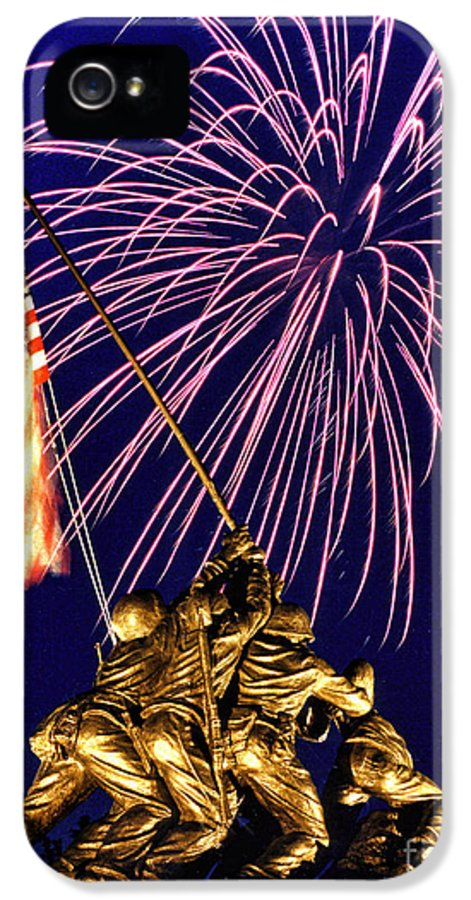 United States Marine Corps IPhone 5 Case featuring the photograph Some Gave All by Scott Hansen