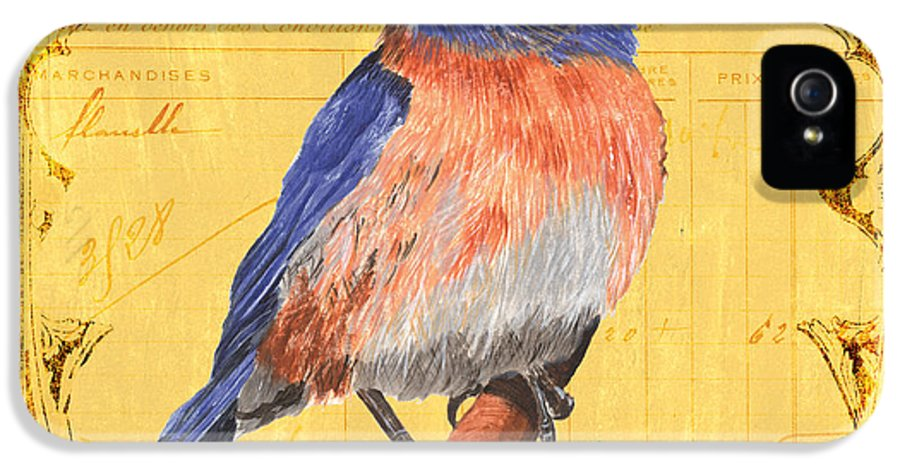 Bird IPhone 5 Case featuring the painting Colorful Songbirds 1 by Debbie DeWitt