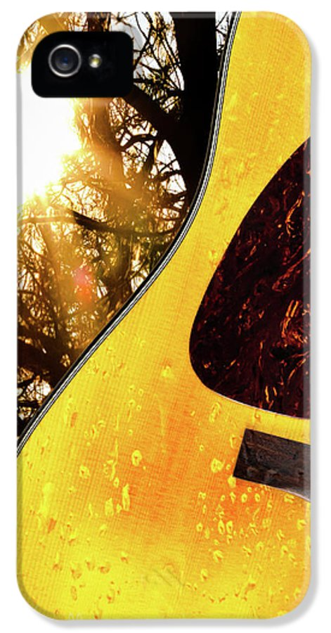 Guitar IPhone 5 Case featuring the photograph Songs From The Wood by Bob Orsillo