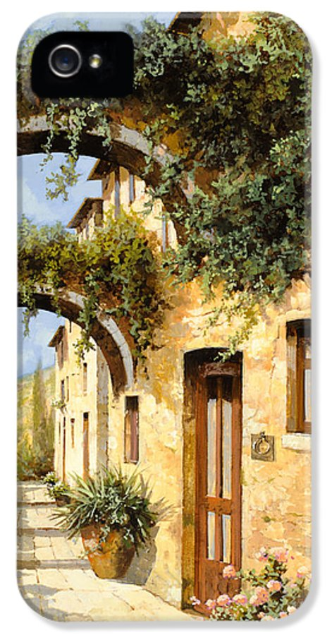 Arch IPhone 5 Case featuring the painting Sotto Gli Archi by Guido Borelli