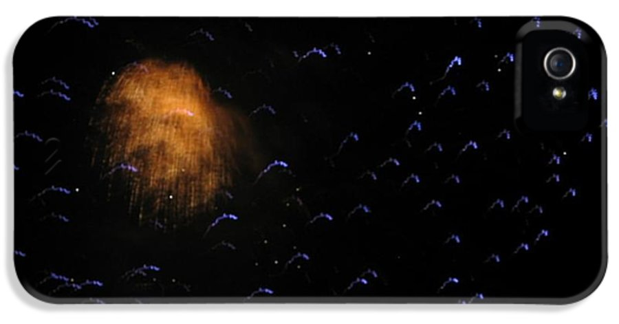 Fireworks IPhone 5 Case featuring the photograph Space Invasion by Bonnie Clark Weatherford