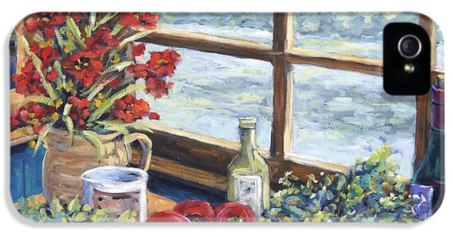 Still Life IPhone 5 Case featuring the painting Spice Table By Prankearts by Richard T Pranke